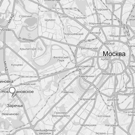 Черно-белая карта Яндекс